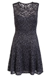 Quiz Grey Glitter Lace Skater Dress Grey