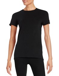 Lord And Taylor Petite Cotton Blend Crewneck Tee Black