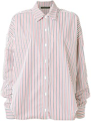Y Project Striped Loose Fit Shirt Cotton M White