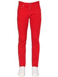 Dsquared 16.5Cm Cool Guy Stretch Cotton Jeans Red
