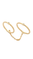 Elizabeth And James Miro Knuckle Ring Gold