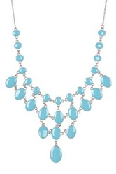 14Th And Union Reversible Large Statement Necklace Blue