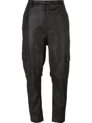 Drome Loose Fit Cropped Trousers Black