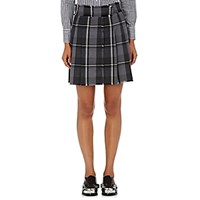 Thom Browne Women's Plaid Wool Flannel Miniskirt Grey