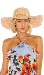 Hat Attack Ultimate Sunhat In Tan. Natural And Beaded Trim