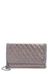 Chelsea 28 Chelsea28 Quilted Mini Clutch Metallic Gunmetal