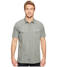 Kuhl Stealth Metal Green Men's Short Sleeve Button Up Brown