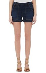 Frame Women's Side Snap Le Antibes Shorts Blue