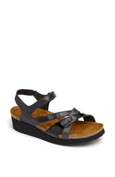 Naot Footwear Women's Naot 'Sophia' Sandal Brushed Black Combo