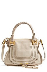 Chloe Chloe 'Marcie Small' Leather Satchel White Abstract White