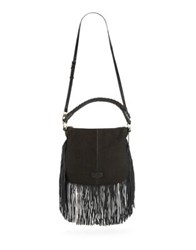 Aimee Kestenberg Mid Dionne Leather Hobo Bag Midnight