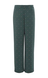 Asceno Jade Star Pajama Pants Green
