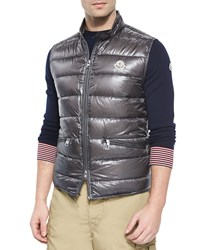 Moncler Gui Quilted Puffer Vest Graphite Grey