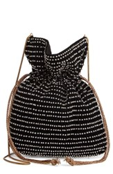 Steve Madden Beaded Drawstring Crossbody Bag Black