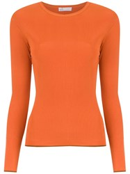 Spacenk Nk Knitted Ribbed Top Orange