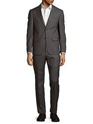 Michael Kors Solid Wool Suit Grey