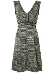 M Missoni V Neck Dress Black