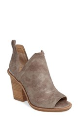 Mercer Edit Women's Fadeout Peep Toe Bootie Taupe Leather