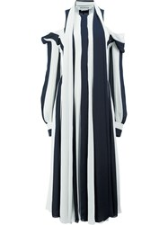 Monse Cut Out Shoulders Striped Dress Polyester Black
