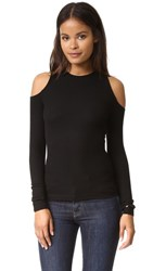 Getting Back To Square One The Cold Shoulder Sweater Black