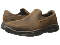 Skechers Relaxed Fit Glides Calculous Dark Brown Men's Slip On Shoes