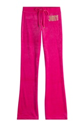 Juicy Couture Embellished Velour Track Pants Pink
