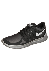Nike Performance Free 5.0 Flash Lightweight Running Shoes Black Reflect Silver Wolf Grey