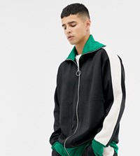 Noak Relaxed Fit Polytricot Track Jacket Black