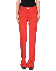 Versace Jeans Couture Trousers Casual Trousers Women Red