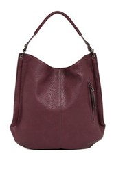 Sondra Roberts Pebble Nappa Hobo Purple