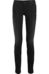 Gucci Studded Low Rise Skinny Jeans Black
