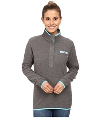 Columbia Ombre Springs Fleece Jacket Cool Grey Heather Clear Blue Women's Fleece Gray