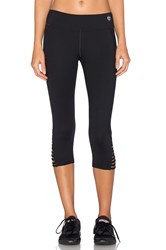 Trina Turk Strappped Solids Mid Length Leggings Black