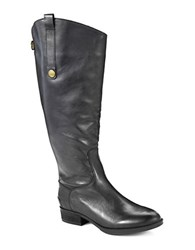 Sam Edelman Penny Wide Calf Leather Boots Black