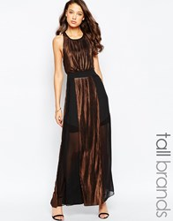 Studio 75 Tall Maxi Dress With Metallic Inserts Black