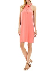 Nicole Miller Sleeveless Shift Dress Coral