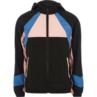 River Island Pink Colour Block Sports Jacket