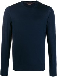 Michael Kors Relaxed Fit Knit Jumper Blue