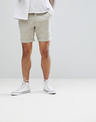 Tommy Jeans Freddy Basic Straight Fit Chino Shorts In Beige Plaza Taupe