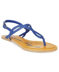 American Rag Keira Braided Flat Sandals Only At Macy's Women's Shoes Summer Blue