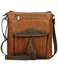 B.O.C. Devereux Small Crossbody Saddle Chocolate