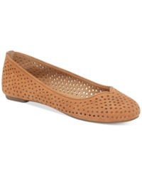 Lucky Brand Women's Enorahh Perforated Flats Women's Shoes Cashew