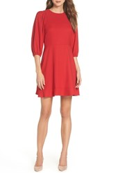 Chelsea 28 Chelsea28 Blouson Sleeve Fit And Flare Dress Red Fiery
