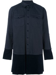 Sacai Oversized Shirt Blue