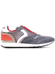 Voile Blanche Jersey Panelled Sneakers Men Leather Nylon Rubber 43 Grey