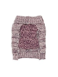 Pet Life Royal Bark Cable Knit Dog Sweater Pink Grey
