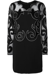 Fausto Puglisi Damask Detail Dress Black