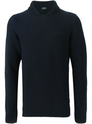 A.P.C. Hooded Sweater Blue