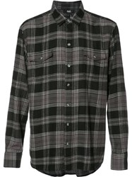 Paige Plaid Shirt Black