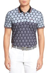 Ted Baker Men's London Birdy Print Golf Polo Grey